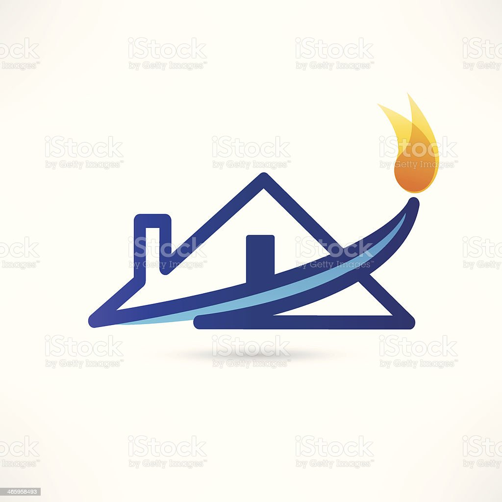 gas water house icon royalty-free stock vector art