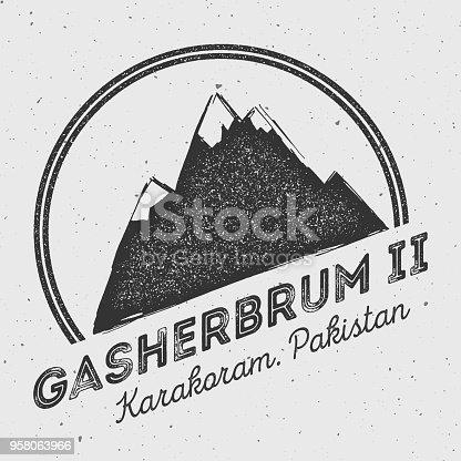 istock Gasherbrum II in Karakoram, Pakistan outdoor adventure . 958063966