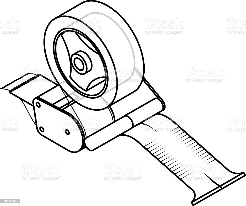 royalty free tape dispenser clip art vector images