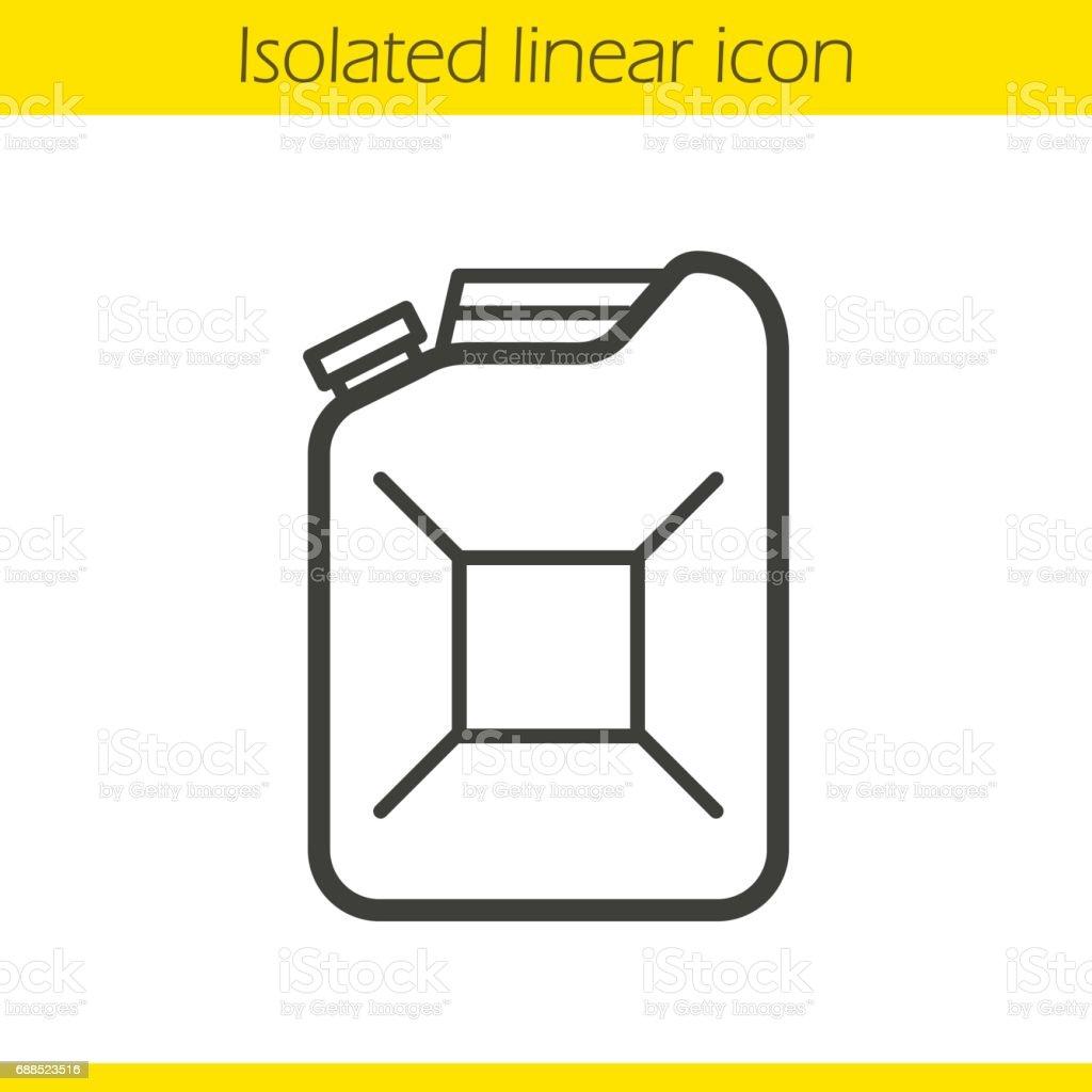 Benzin-Kanister-Symbol – Vektorgrafik
