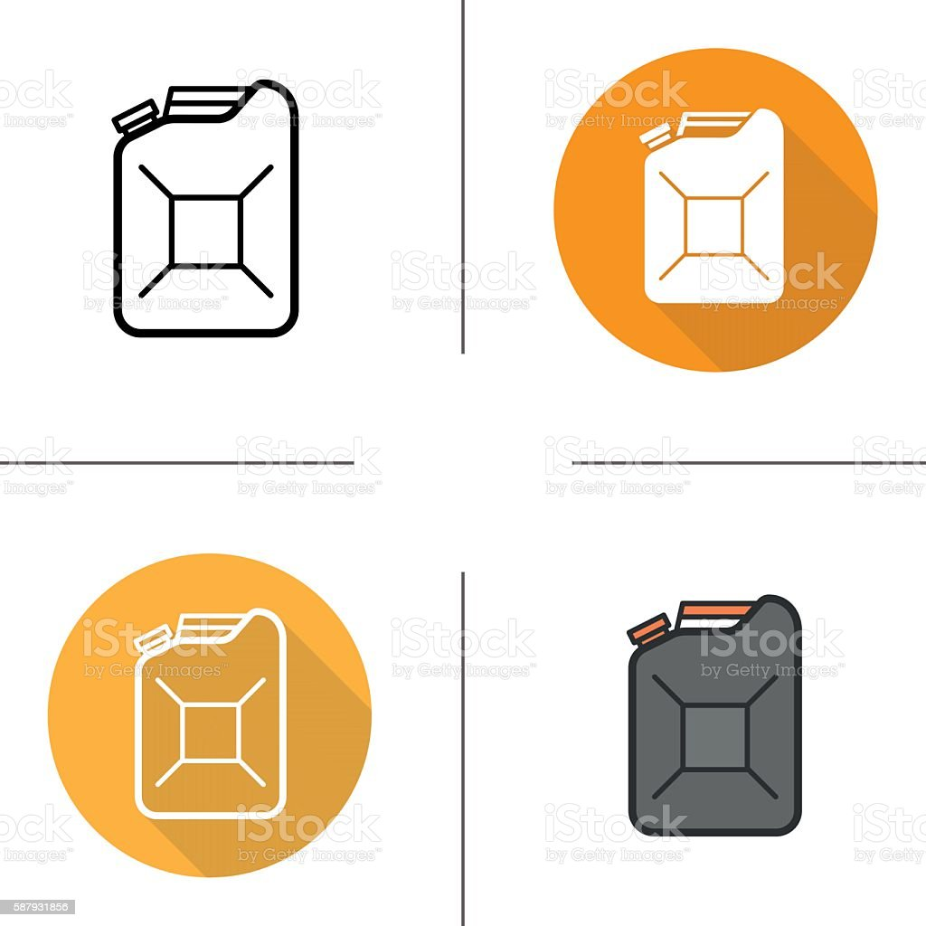 Gasoline canister icons – Vektorgrafik