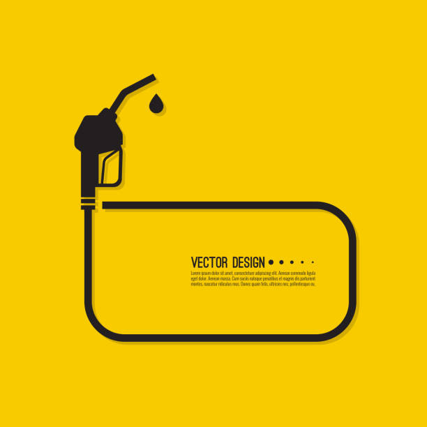 illustrazioni stock, clip art, cartoni animati e icone di tendenza di segnale ugello pompa benzina. - combustibile fossile