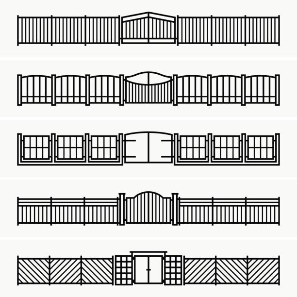 Gate fence Available in high-resolution and several sizes to fit the needs of your project. gate stock illustrations