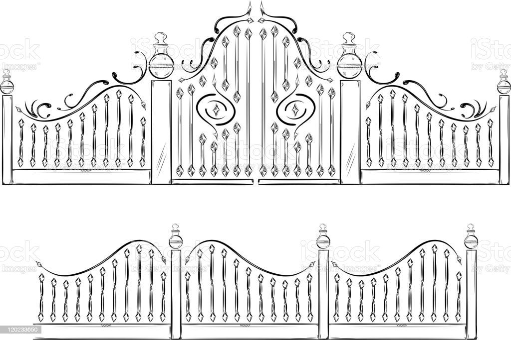 Gate royalty-free stock vector art