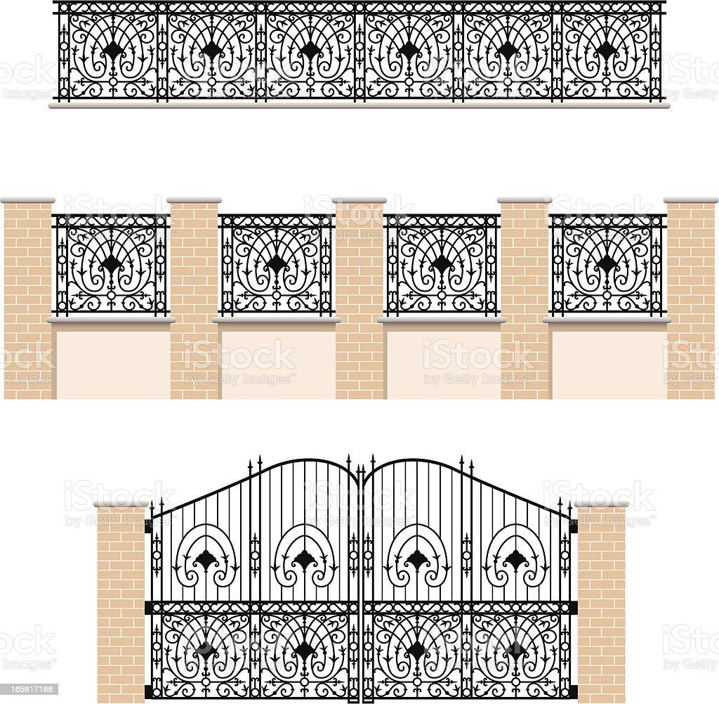 Gate vector art illustration