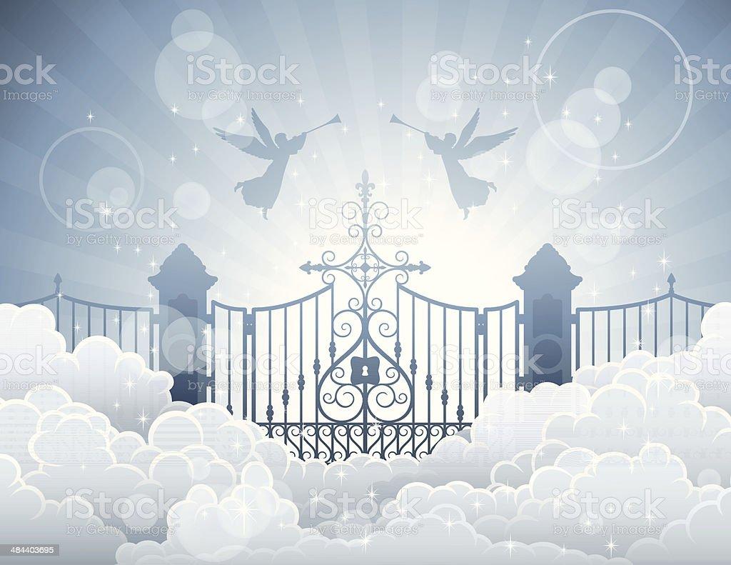 Gates of Heaven vector art illustration