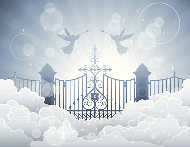 Gates of Heaven High Resolution JPG,CS6 AI and Illustrator EPS 10 (with transparency effects) included. Each element is named,grouped and layered separately. heaven stock illustrations