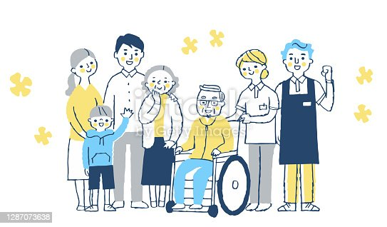 A gathering of family and long-term care staff