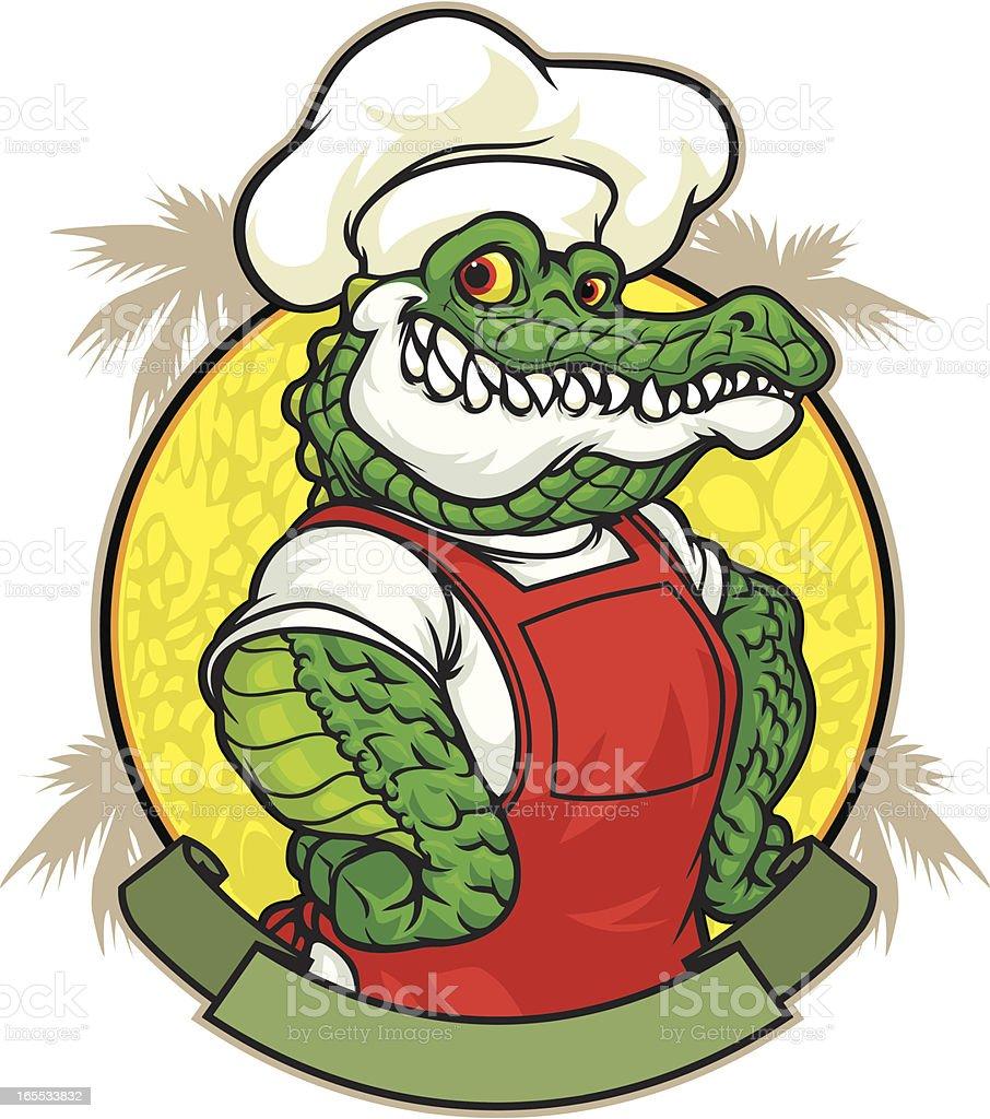 Gator Lunch vector art illustration