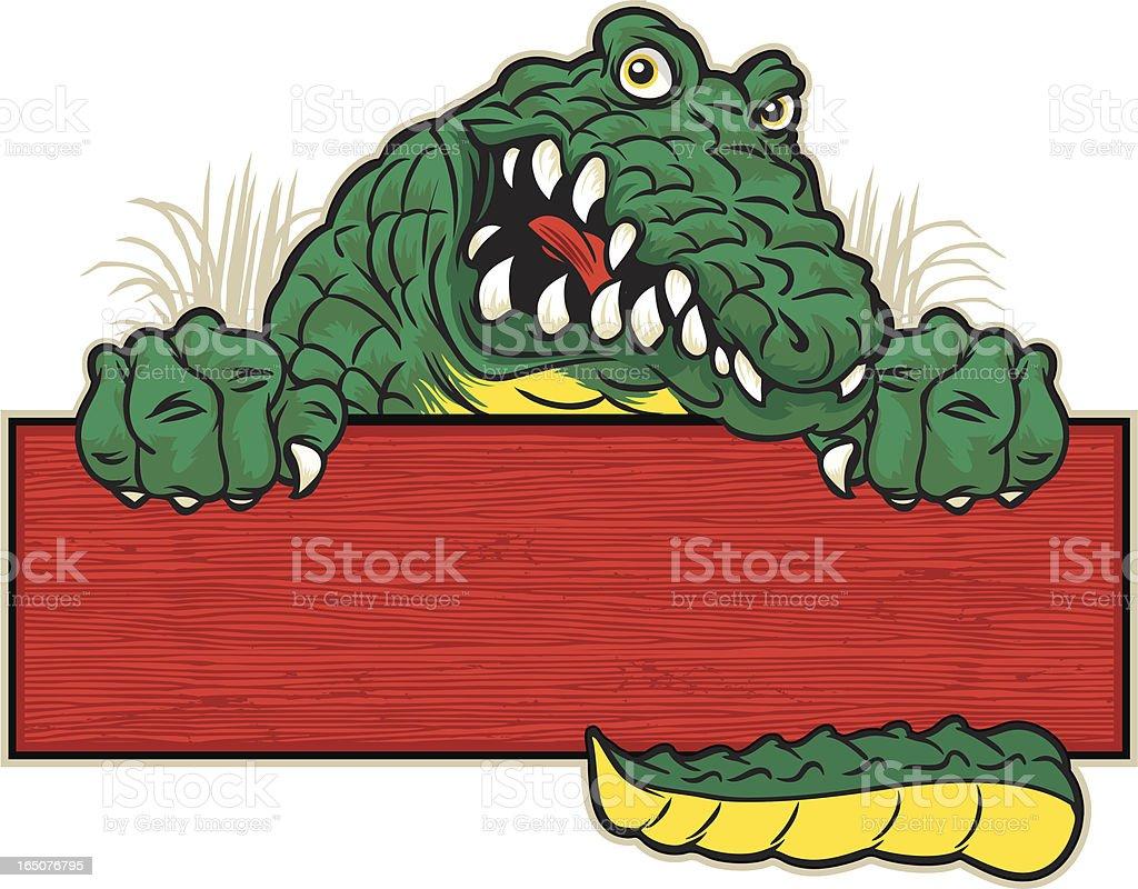 Gator Sign royalty-free stock vector art