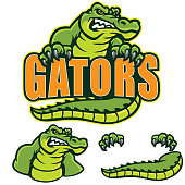 This aggressive Gator sign perfect for any design.