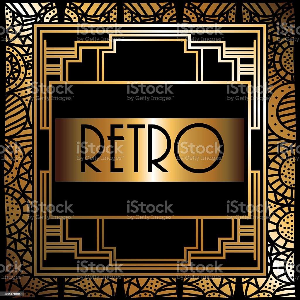 Gatsby design royalty-free stock vector art