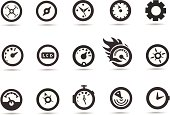 Gauge and Speedometer Icons