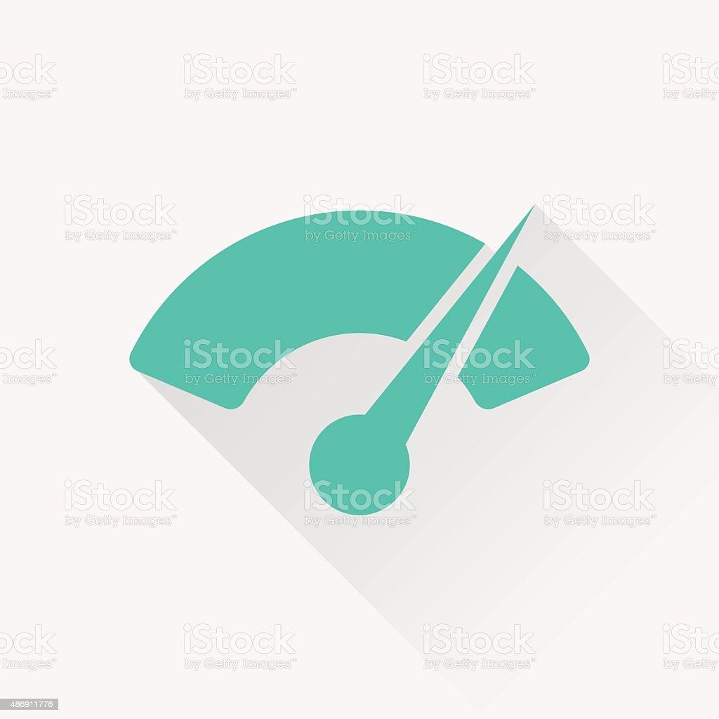 Gauge icon vector art illustration