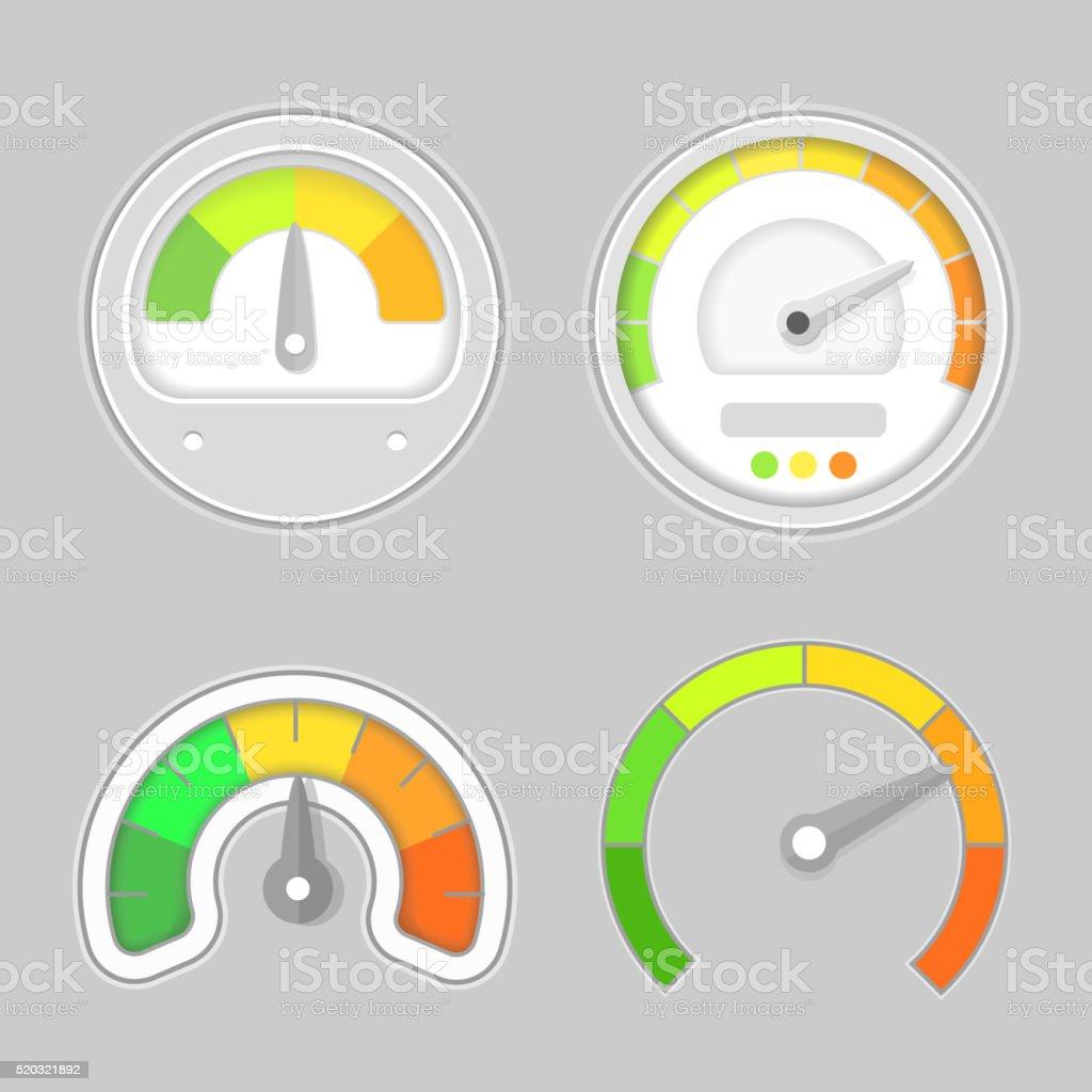 Gauge meter element. Vector illustration. Speedometer icon vector art illustration
