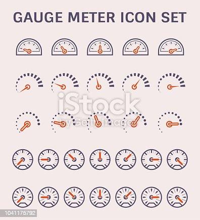 Gauge meter vector icon set design.