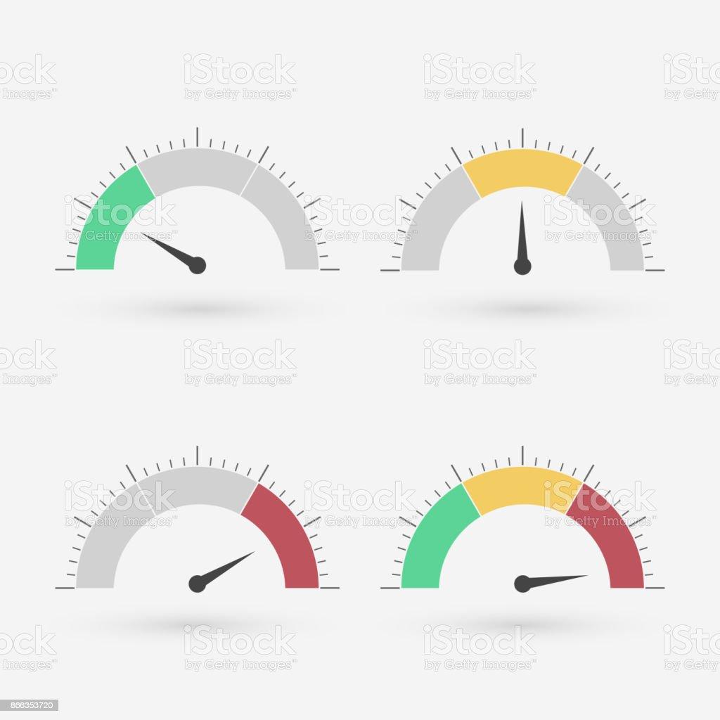 Gauge set royalty-free gauge set stock illustration - download image now