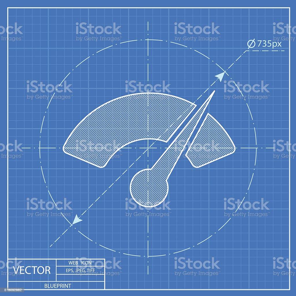 Gauge vector blueprint icon stock vector art more images of gauge vector blueprint icon royalty free gauge vector blueprint icon stock vector art amp malvernweather Choice Image