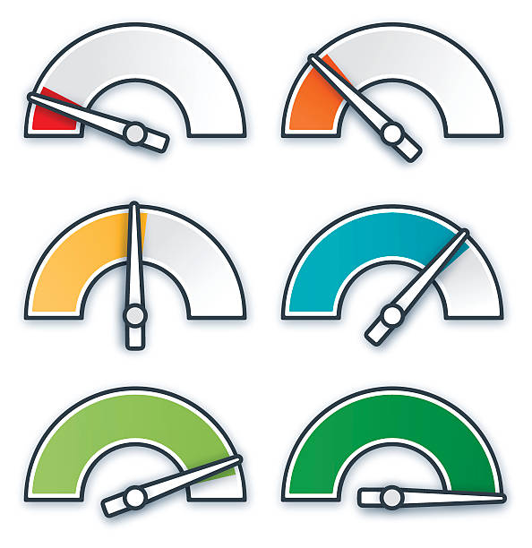 gauges and levels - credit score stock illustrations, clip art, cartoons, & icons