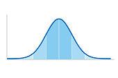 istock Gaussian distribution, standard normal distribution, bell curve 1300314773