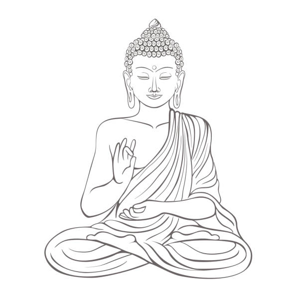 Royalty Free Buddha Head Clip Art, Vector Images ...