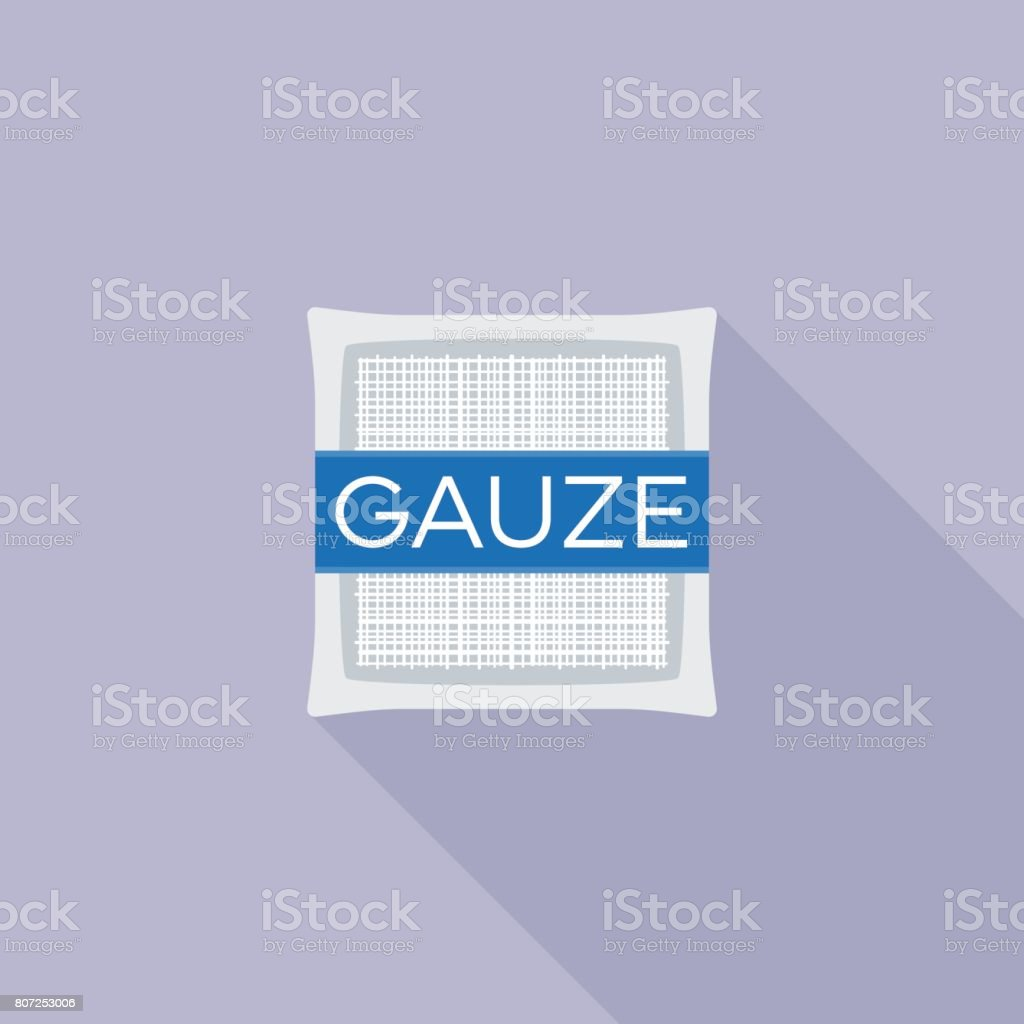 Gauze pad for first aid icon vector art illustration