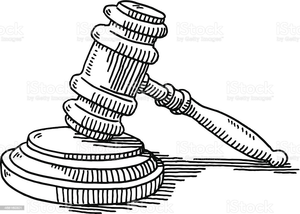 gavel and soundblock justice drawing stock vector art clip art newspaper headlines clip art newspaper headlines