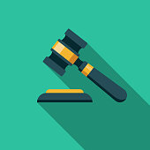 istock Gavel Flat Design Crime & Punishment Icon 967305608