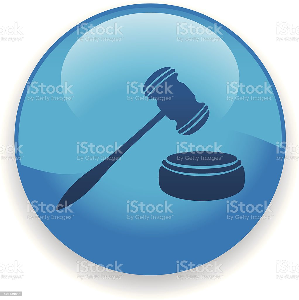 Gavel Icon royalty-free gavel icon stock vector art & more images of blue