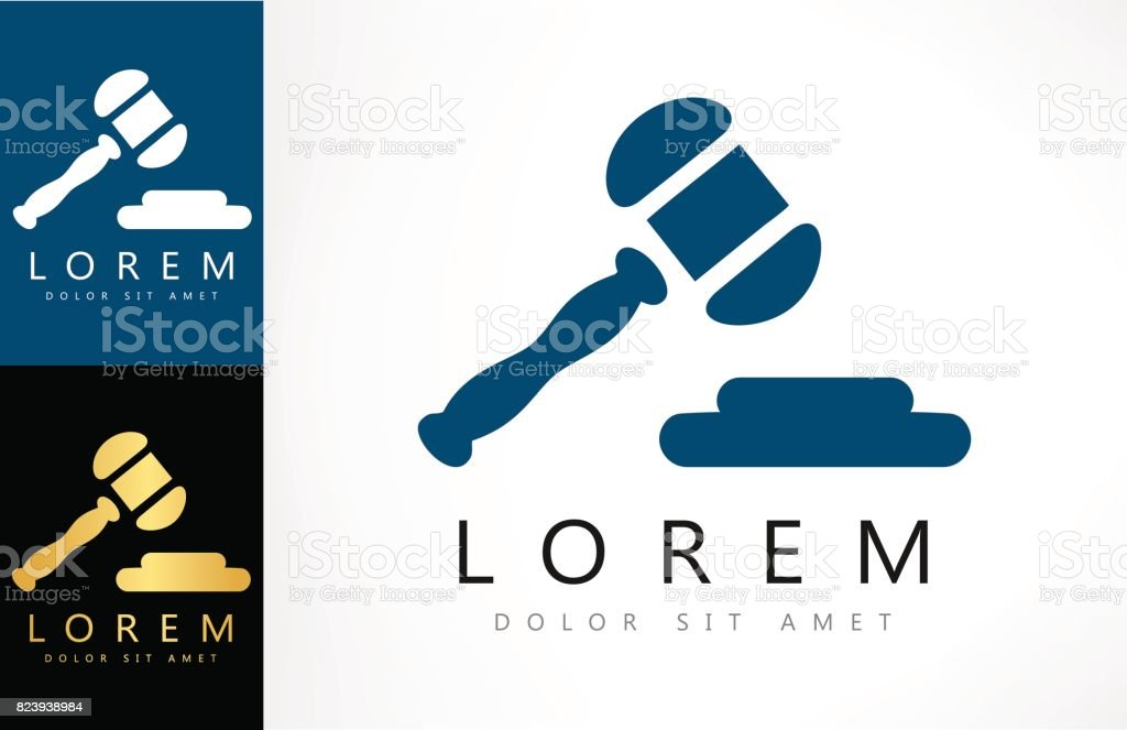 gavel symbol vector art illustration