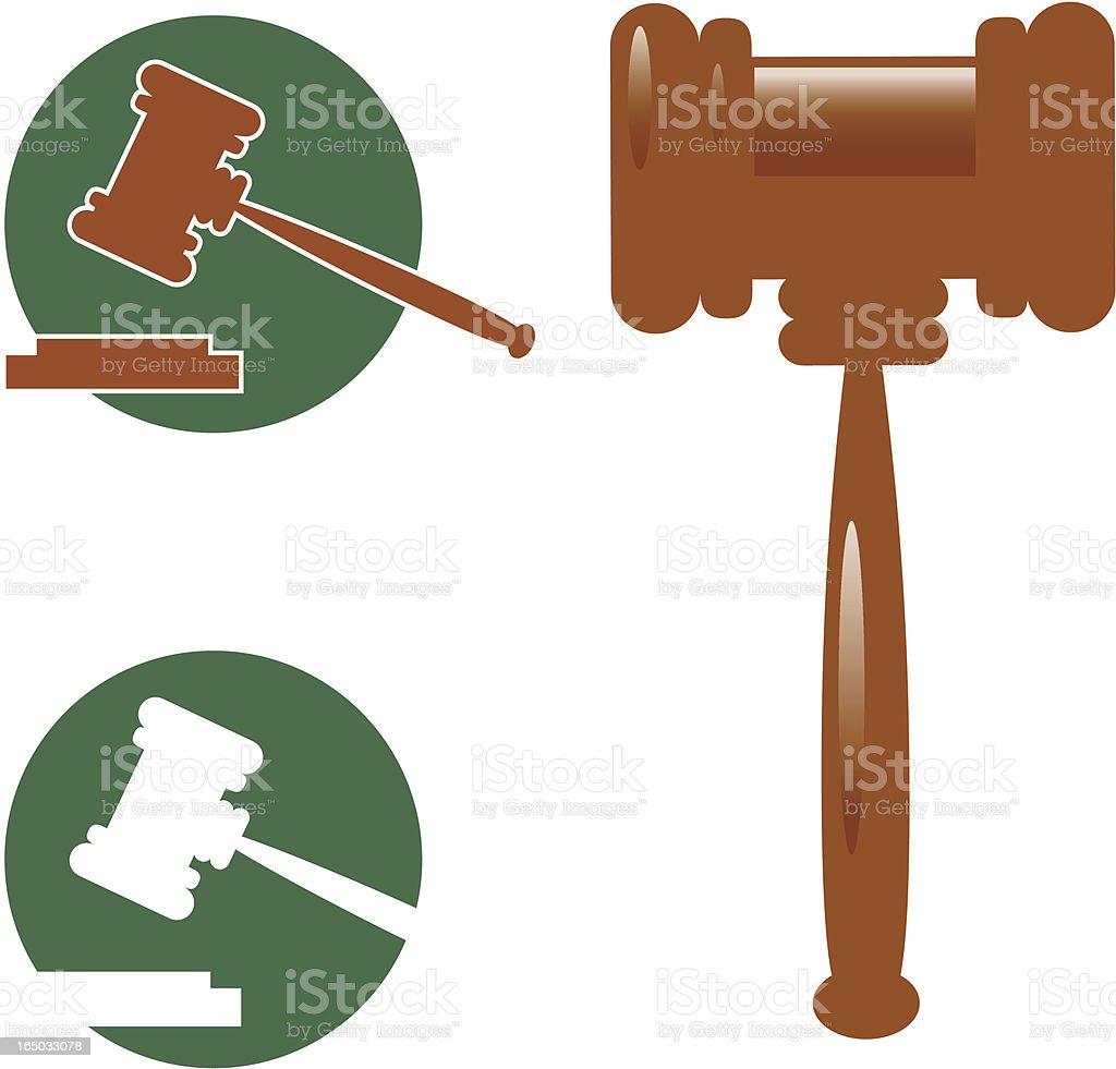Richterhammer-Vektor Symbole – Vektorgrafik