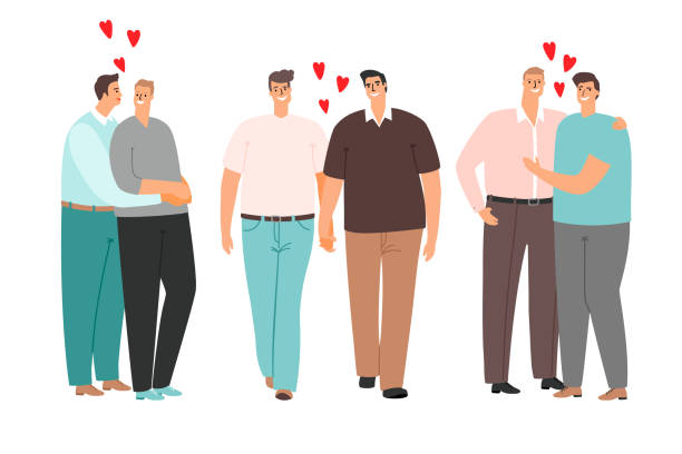 Same-sex couple stock illustrations