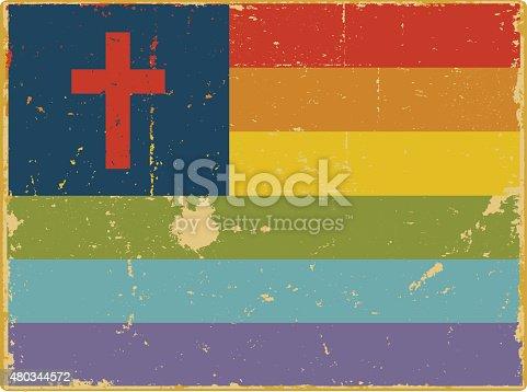 istock Gay Christian Flag 480344572