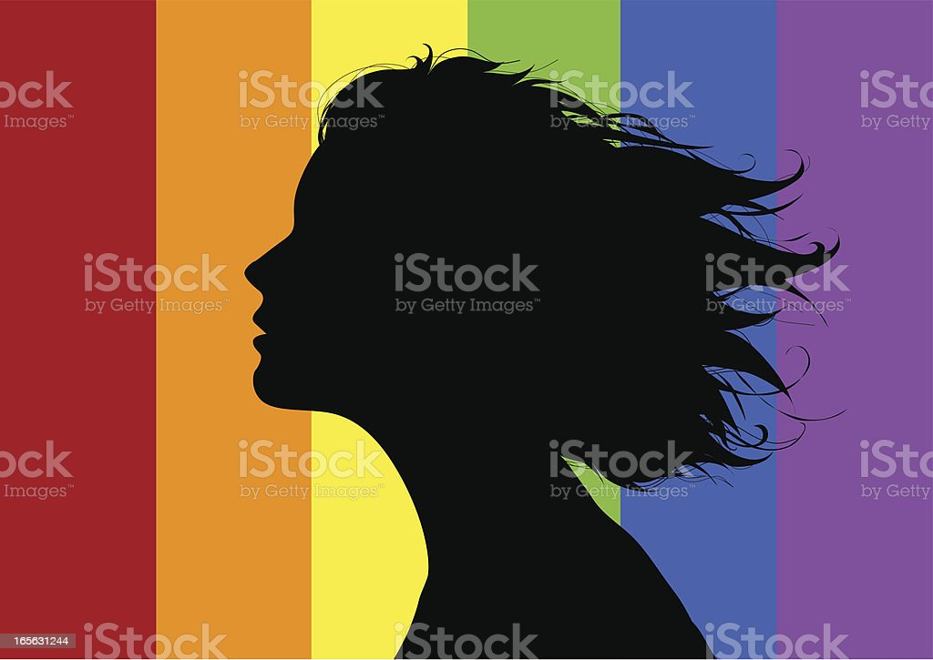 Gay girl vector art illustration