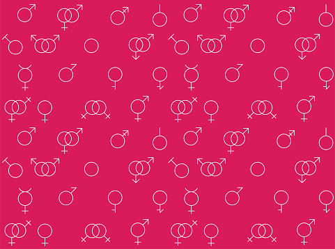 Gay Icons Differentation Variations Vector Seamless Background Wallpaper-01