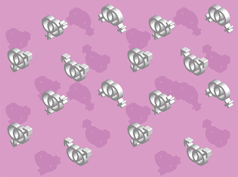 3D Gay Icons Vector Seamless Background Wallpaper Set 2-01