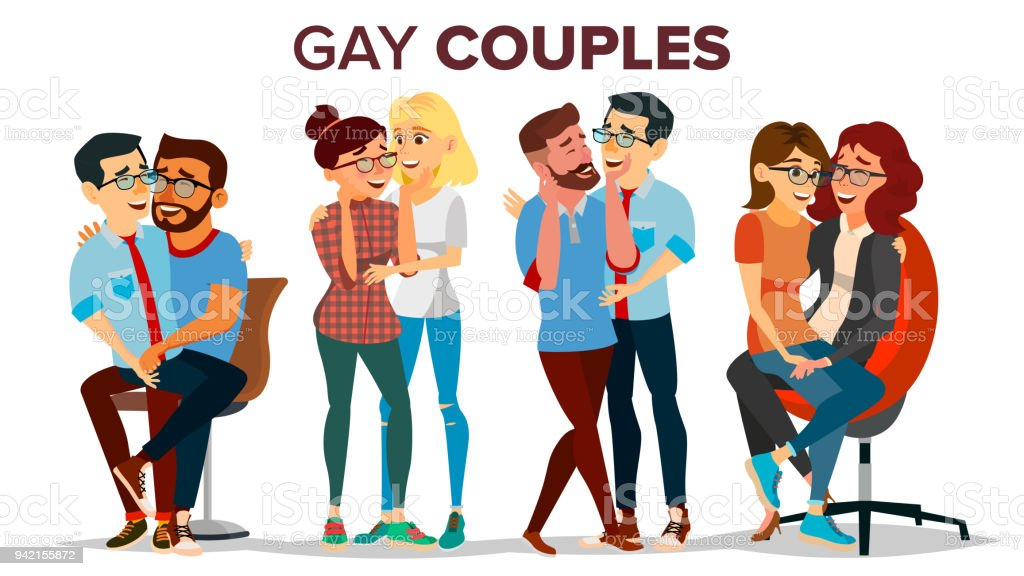 Couple of bisexual sex cartoons