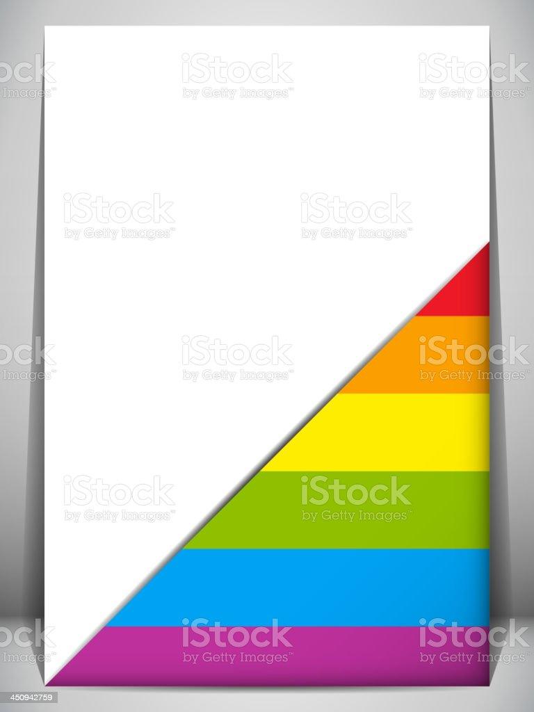 Gay Pride Flag Letter Document royalty-free stock vector art