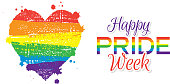 Vector illustration of a Gay Pride or LGBT Happy Pride Week banner design template. Fully Editable. EPS 10