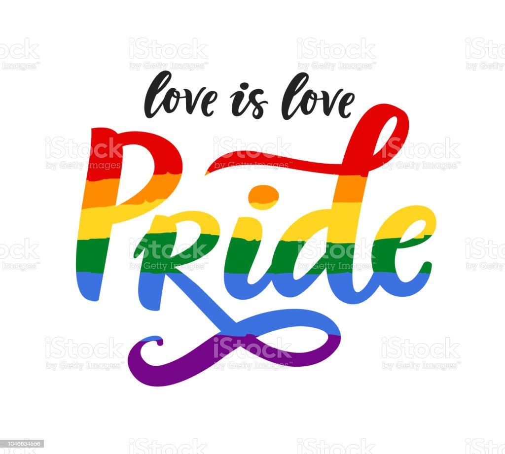 Gay Pride cartel arco iris espectro bandera, homosexualidad, emblema de la igualdad en estilo retro. - ilustración de arte vectorial