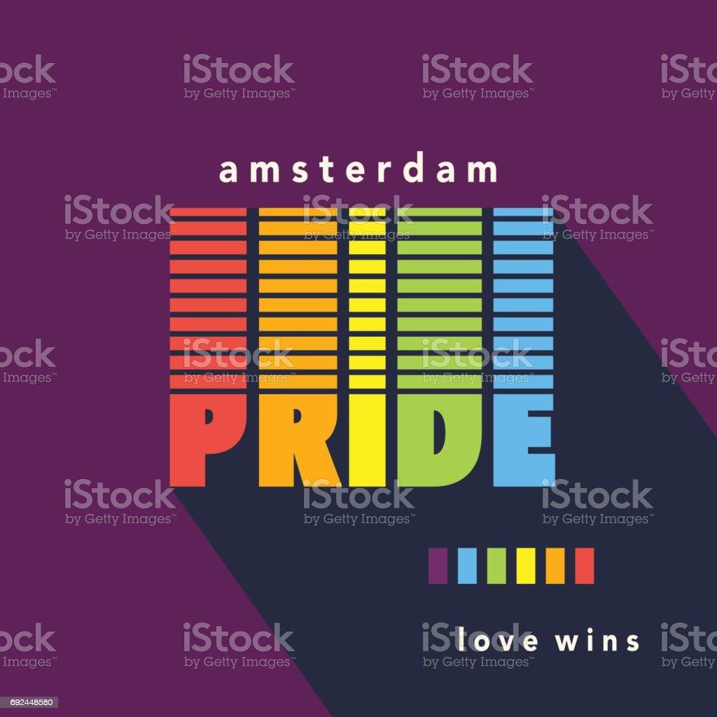 Bandera de espectro Gay Pride cartel del arco iris - ilustración de arte vectorial