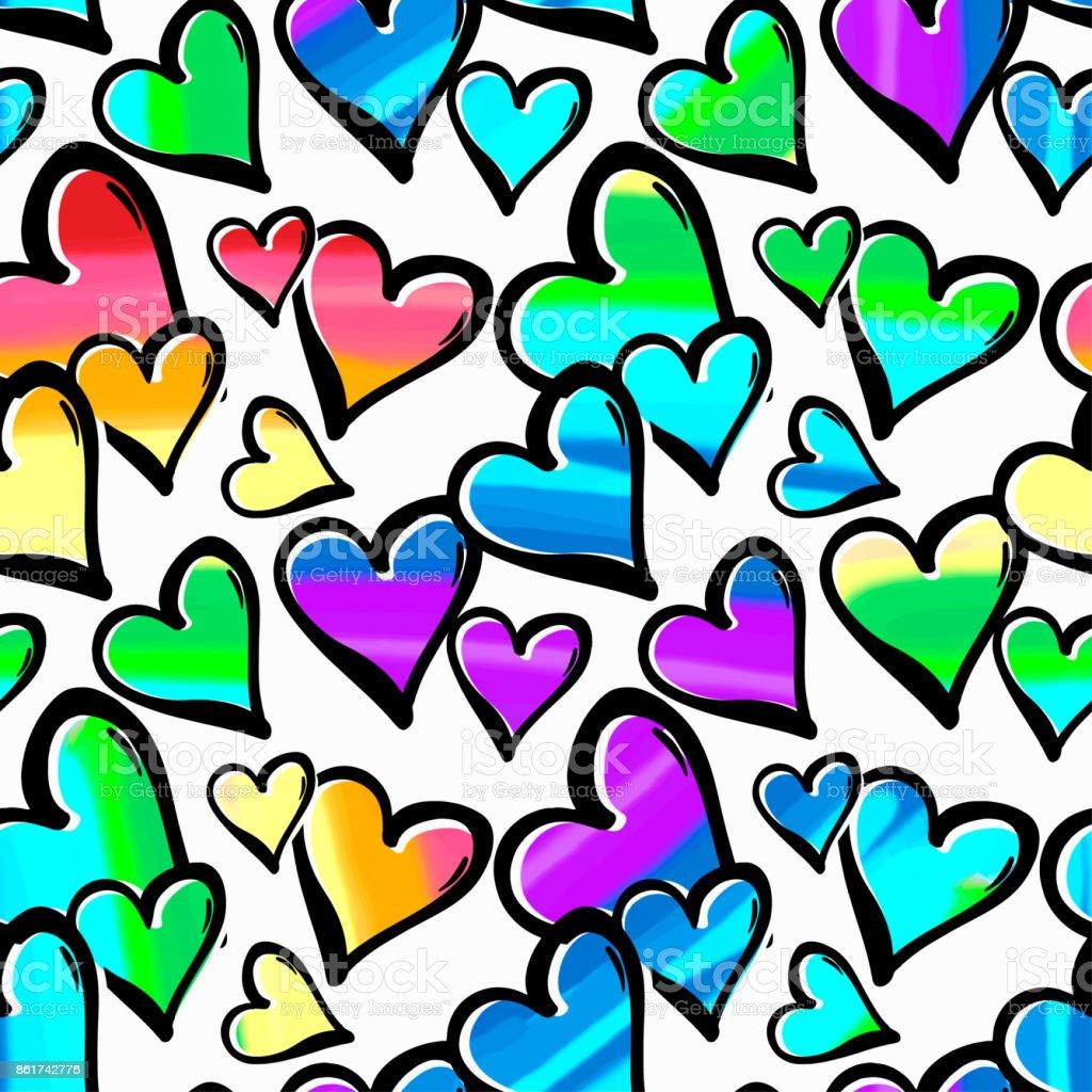 gay pride regenbogen farbige herzen nahtlose muster stock vektor art und mehr bilder von. Black Bedroom Furniture Sets. Home Design Ideas