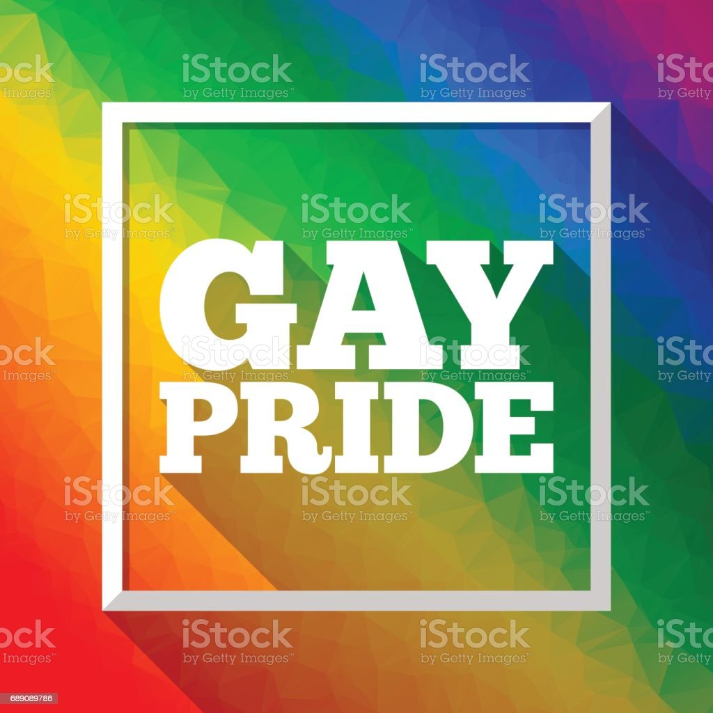 Gay Pride rainbow colorful abstract background with triangular shapes. Vector illustration in LGBT flag colors. Symbol of peace and tolerance. Modern template for Pride Month, parade, special events. vector art illustration