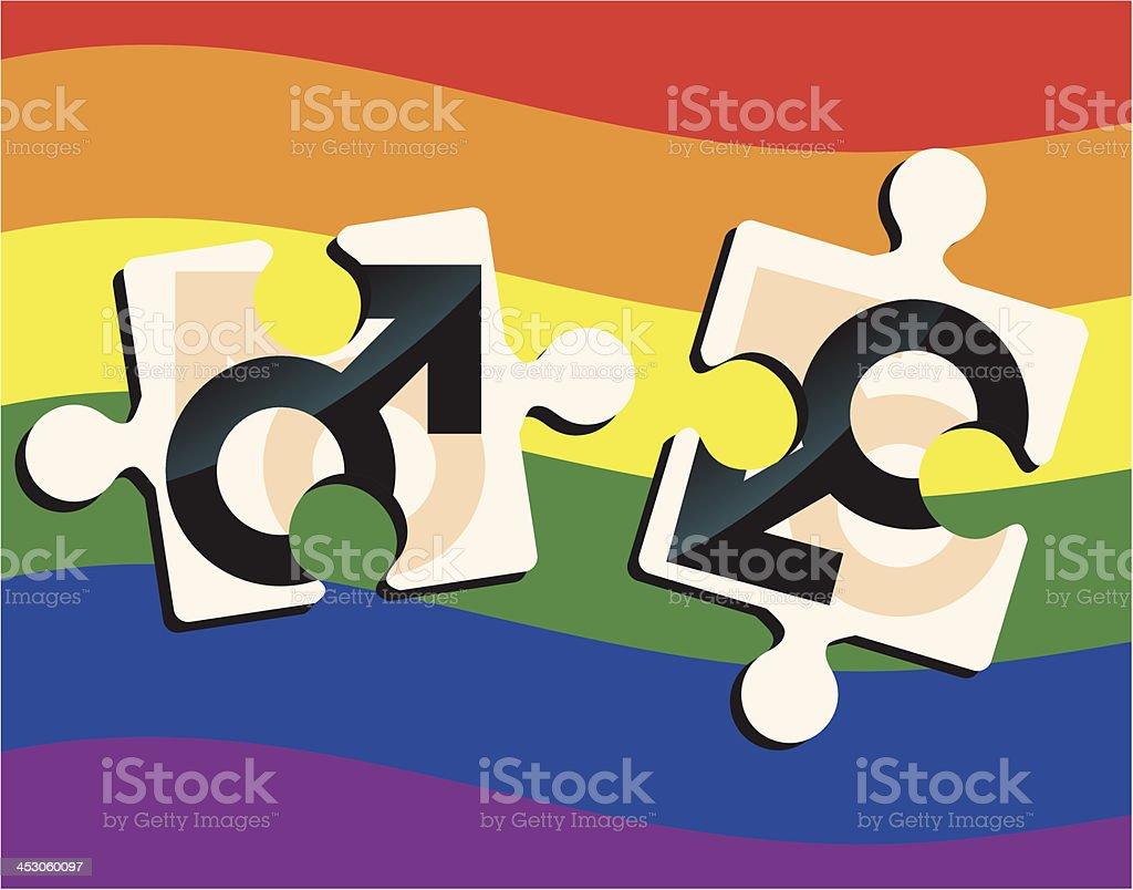 Gay Puzzle royalty-free stock vector art