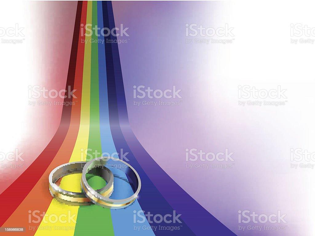 gay wedding ring vector art illustration