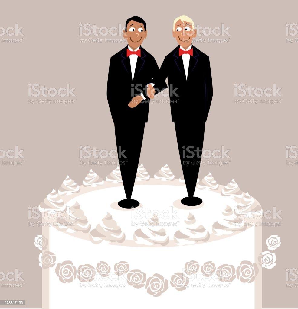 Gay boda - ilustración de arte vectorial