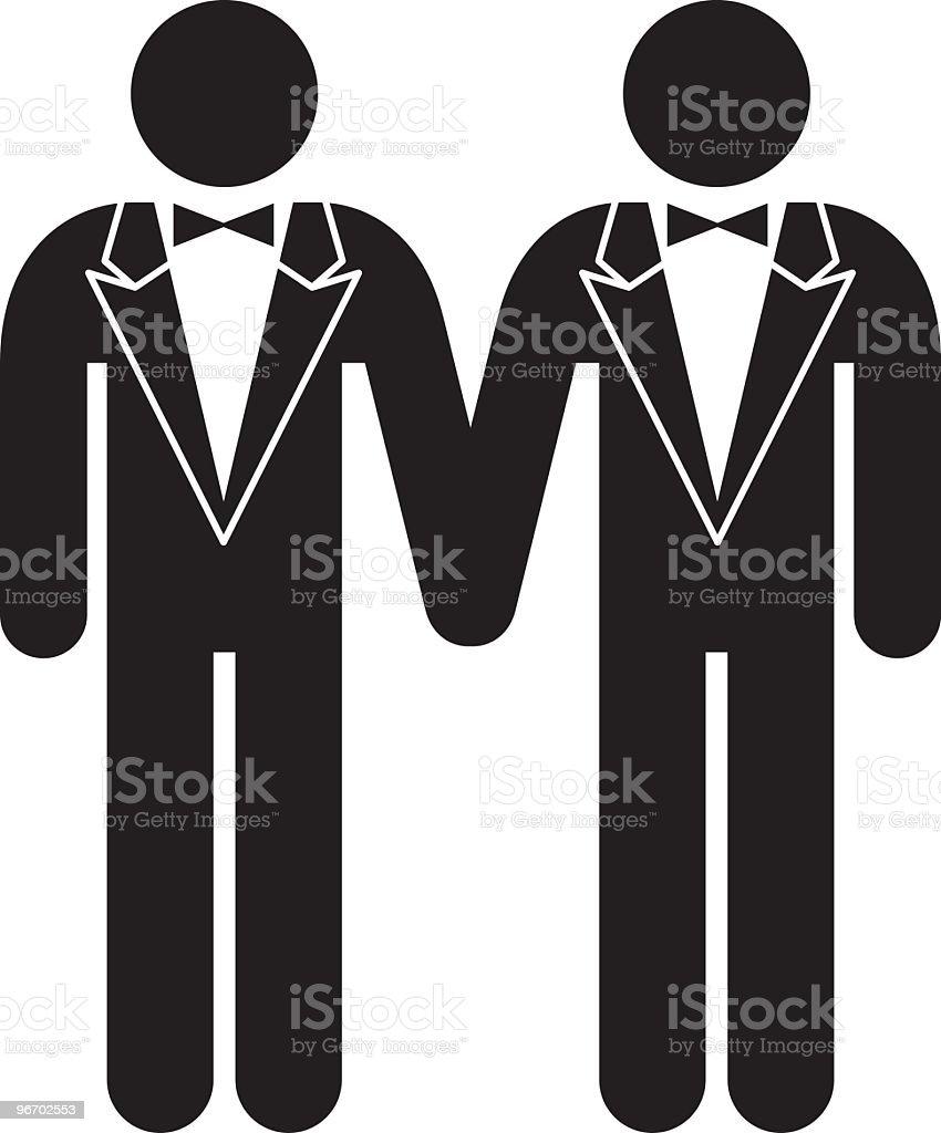 Gay wedding vector art illustration