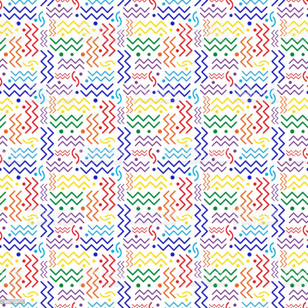 gayFunky Rainbow retro Pattern on White vector art illustration