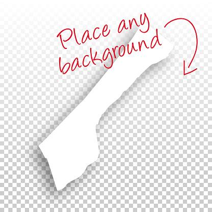Gaza Strip Map for design - Blank Background