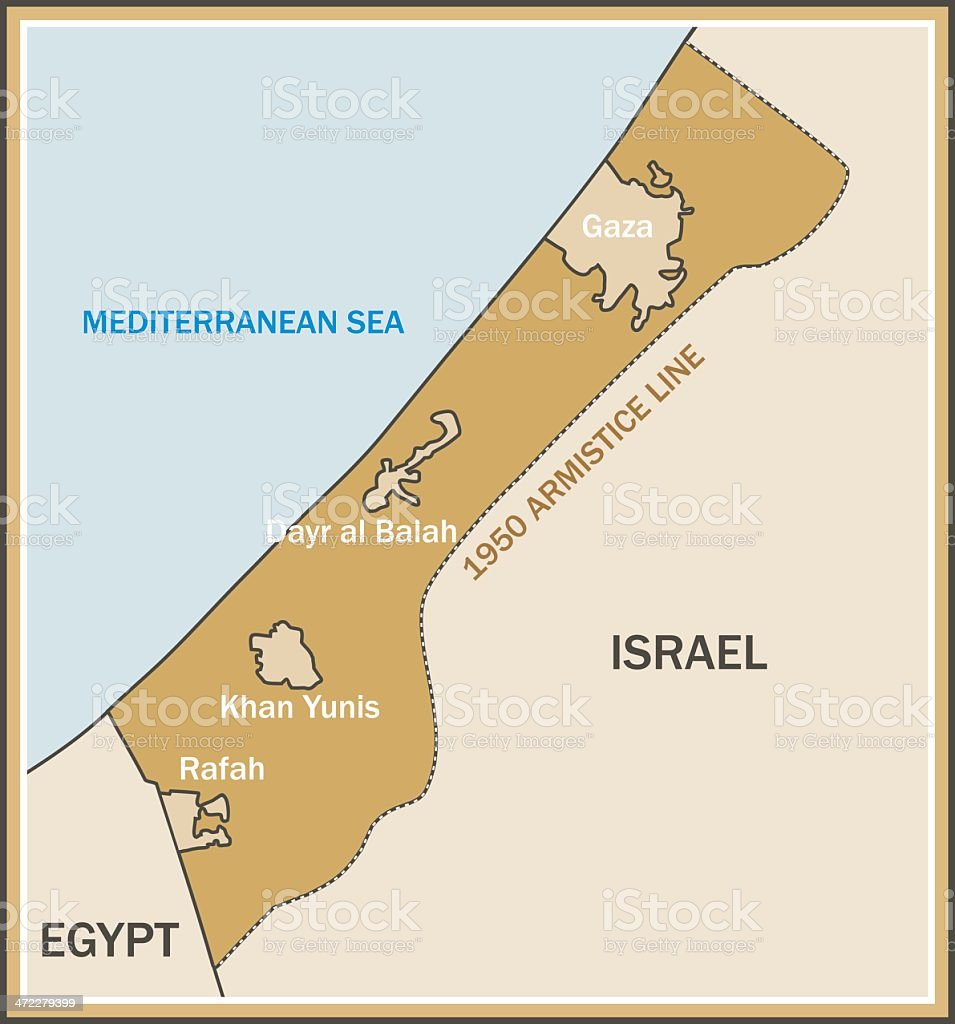 Gaza Strip Map Stock Illustration - Download Image Now - iStock on palestinian people, sea of galilee, oman map, tel aviv, plateau of iran map, yasser arafat, himalayas map, palestinian territories, east jerusalem, bangladesh map, greece map, united kingdom map, world map, jordan river, morocco map, middle east political map, west bank, six-day war, western sahara map, indonesia map, sinai peninsula map, ethiopia map, iberian peninsula map, yom kippur war, austria map, golan heights, iudaea province map, philippines map, jerusalem map, oslo accords, yemen map, sinai peninsula, western wall, portugal map,